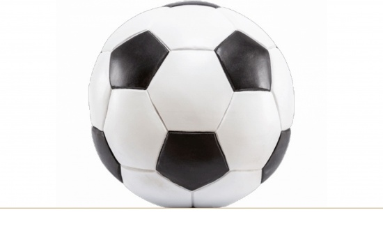 Fußball bemalt aus Holz   <small>(U95)</small>
